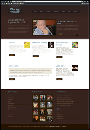 Screenshot of the New Site Layout